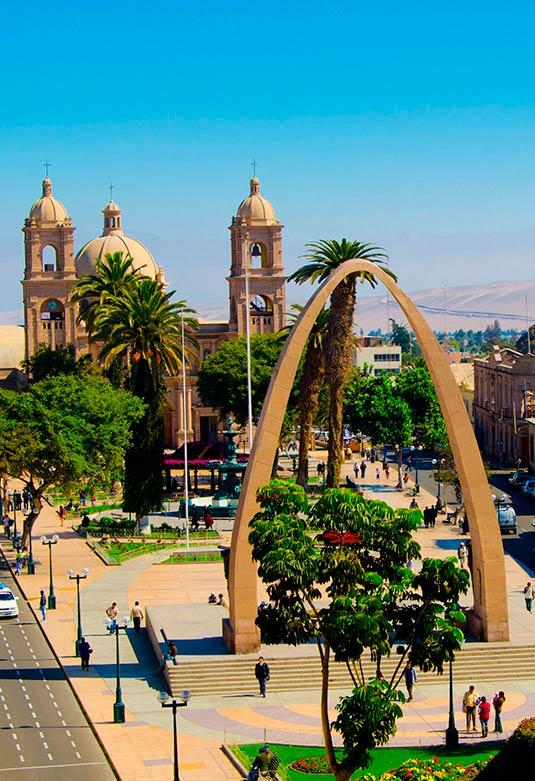 Paseo Cívico y Catedral de Tacna