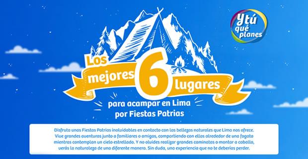 Seis lugares de Lima para acampar en Fiestas Patrias