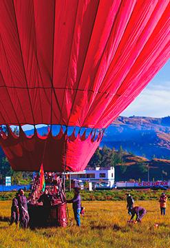 Globo aerostático en Cusco