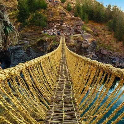 Cusco: se programa la reconstrucción del último puente Inca