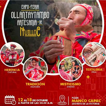 """Expo feria """"Ollantaytambo, Artesanía de Huilloc"""""""