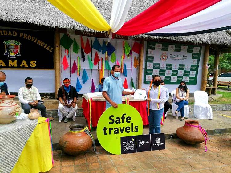 Autoridades Sello Safe travels Tarapoto