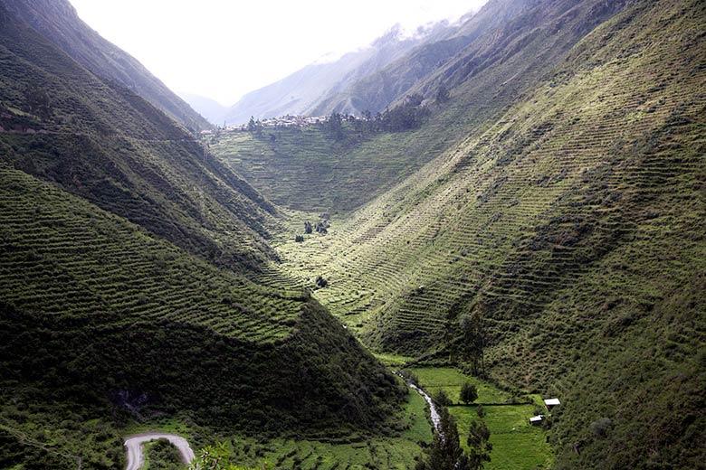 Vista de los Andenes y valle