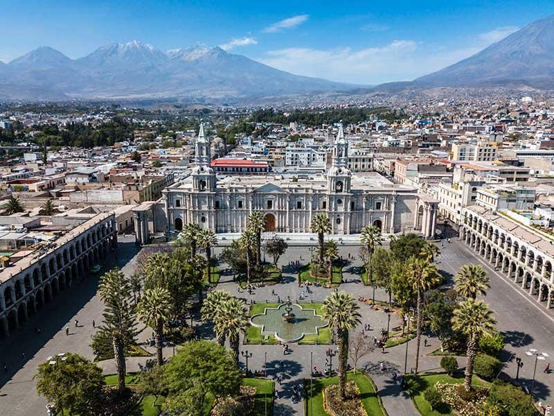 Aniversario de Arequipa Plaza de Armas de Arequipa