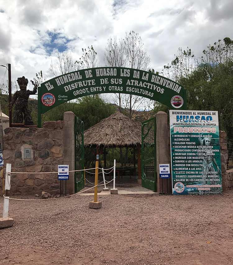 Entrada de Humedales de Huasao
