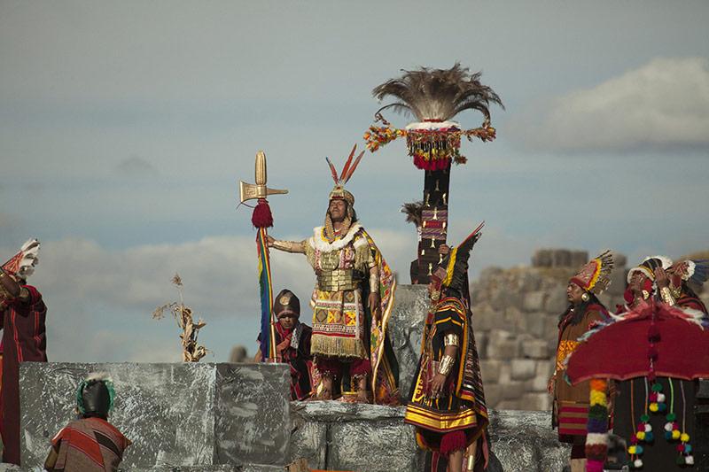 Inca en el Inti Raymi