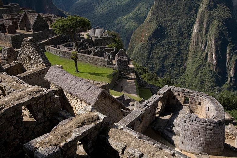 Las paredes de piedra de Machupicchu