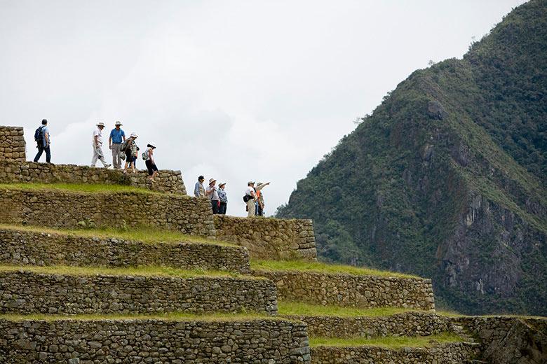 Turistas en Machupicchu