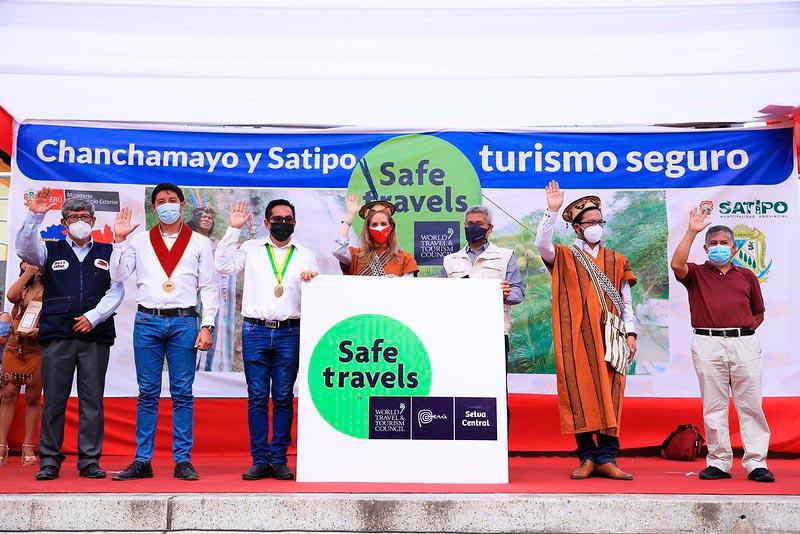 Entrega del Sello Safe Travels en Selva Central Junín