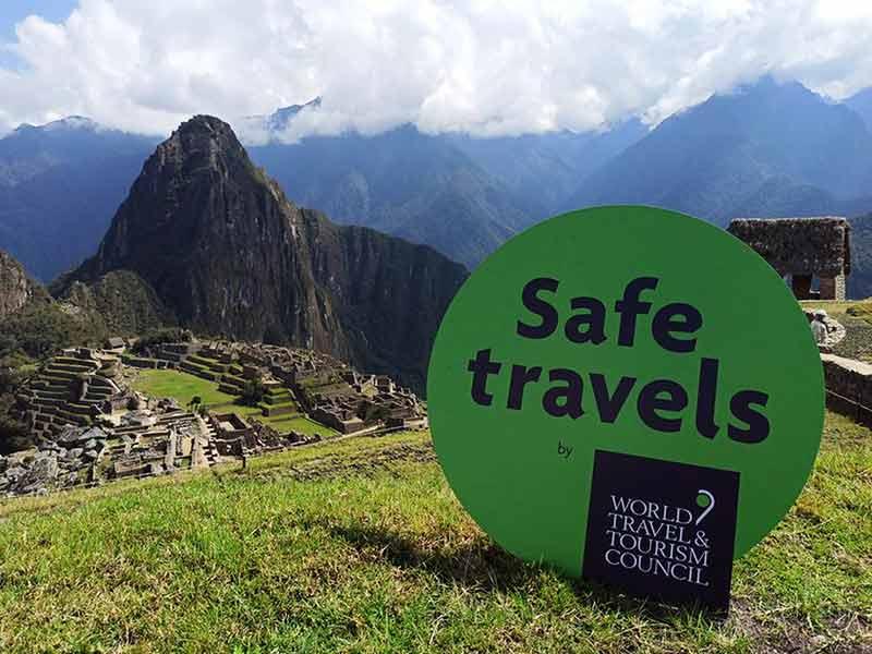 Sello Safe Travels en Cusco