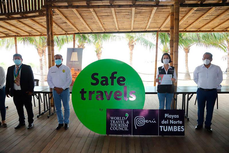 Entrega del Sello Safe Travels a Tumbes