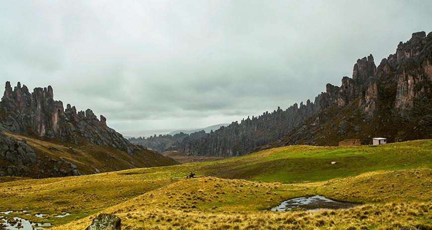 Formaciones de piedra en Santuario Nacional de Huayllay