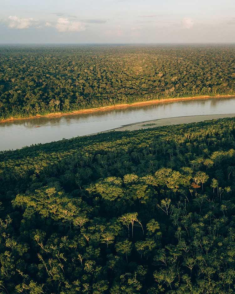 Tambopata desde el aire