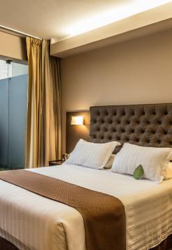 Habitaciones con terraza en Del Pilar Hotels