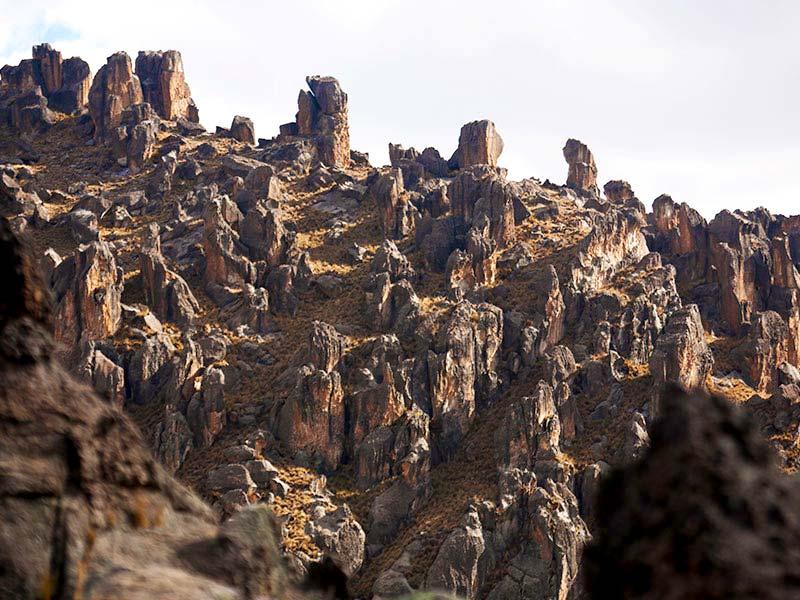 Formaciones naturales en Huayllay